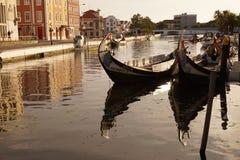 Moliceiro boat in Aveiro Royalty Free Stock Photos
