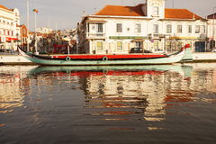 Moliceiro boat in Aveiro Royalty Free Stock Images