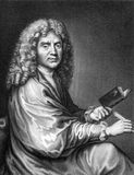 Moliere. (1622-1676) on engraving from 1859. French playwright and actor, one of the greatest masters of comedy in Western literature. Engraved by Nordheim and Stock Image