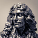 Moliere  Jean-Baptiste Poquelin statue head Royalty Free Stock Photo