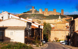 Molina de Aragon with castle Stock Photo