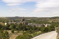 Molinaseca cityscape in Castilla y Leon Royalty Free Stock Photography