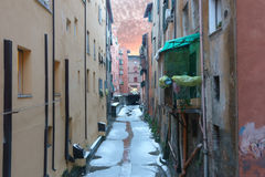 Moline canal in Bologna Royalty Free Stock Image