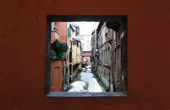 Moline canal in Bologna Royalty Free Stock Photos