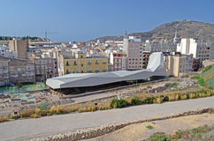 Molinete Archealogical pik, Cartagena, Spanien, Tom Wurl royaltyfri fotografi