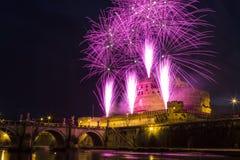Molinillo de viento de Castel Sant ' Ángel imagen de archivo libre de regalías