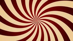 Molinillo de viento girado que gira el lazo inconsútil del fondo del estilo abstracto del vintage almacen de metraje de vídeo