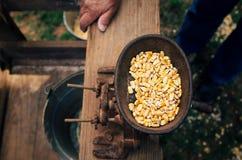 Molino antiguo del maíz Foto de archivo