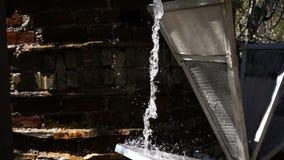 Molino de agua de madera metrajes