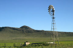 Molino de campo_0007. Old wind pump in a field, Patagonia, Argentina royalty free stock photography