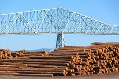 Molino de la madera de construcción en Rainier Oregon Imagen de archivo libre de regalías