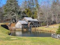 Molino de Mabry cerca de prados de Dan, Virginia foto de archivo