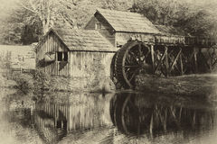 Molino de Mabry en tonos antiguos imagen de archivo