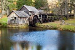 Molino de Mabry, Floyd County, Virginia los E.E.U.U. imagenes de archivo