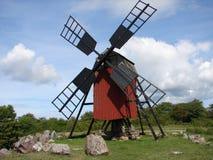 Molino de madera en Ãland, Suecia fotos de archivo