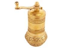 Molino de pimienta del oro Fotografía de archivo