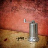 Molino de pimienta metálico Foto de archivo