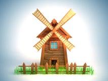 Molino de viento ilustración del vector