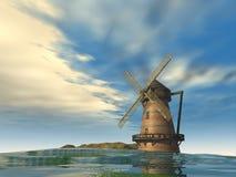 Molino de viento 3d stock de ilustración