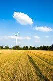 Molino de viento ambiental de la energía Fotografía de archivo