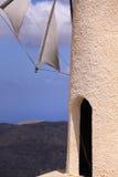Molino de viento blanco griego Imagen de archivo libre de regalías