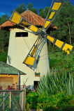 Molino de viento - Bogotá, Colombia Foto de archivo