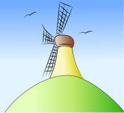 Molino de viento coloreado Imagenes de archivo