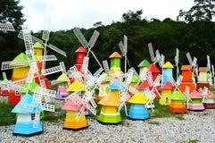 Molino de viento colorido Imágenes de archivo libres de regalías