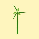 Molino de viento con las hojas Fotografía de archivo libre de regalías