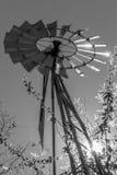 Molino de viento con una poca llamarada Fotos de archivo