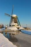 Molino de viento congelado Fotografía de archivo