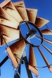 Molino de viento congelado Fotos de archivo libres de regalías