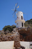 Molino de viento Creta Grecia Foto de archivo