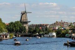 Molino de viento de Amsterdam Imágenes de archivo libres de regalías
