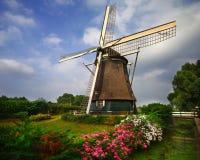 Molino de viento de Amsterdam, Países Bajos Imágenes de archivo libres de regalías
