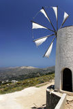 Molino de viento de Cretian foto de archivo