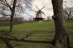 Molino de viento de Ginebra Fotos de archivo