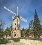 Molino de viento de Montefiore, Jerusalén Imagen de archivo libre de regalías