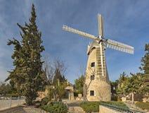 Molino de viento de Montefiore, Jerusalén Foto de archivo