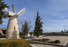 Molino de viento de Montefiore, Jerusalén Fotos de archivo libres de regalías
