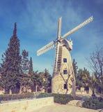 Molino de viento de Montefiore, Jerusalén Foto de archivo libre de regalías