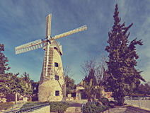 Molino de viento de Montefiore, Jerusalén Fotografía de archivo
