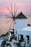 Molino de viento de Oia Fotos de archivo