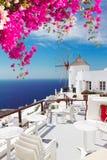 Molino de viento de Oia, Santorini Imagen de archivo libre de regalías