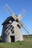 Molino de viento de piedra Foto de archivo libre de regalías