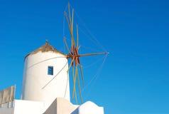 Molino de viento de Santorini Imagenes de archivo