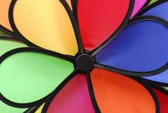 Molino de viento del color Imagen de archivo libre de regalías