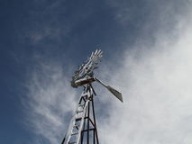 Molino de viento del invierno Fotografía de archivo