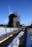 Molino de viento del invierno Fotos de archivo libres de regalías