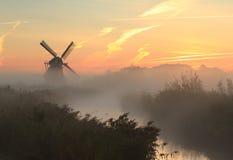 Molino de viento del otoño Imagenes de archivo